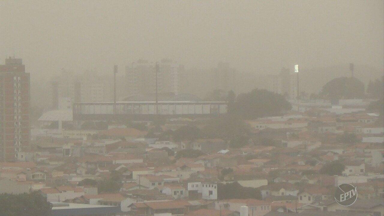 Moradores registram volta da chuva à região de Campinas
