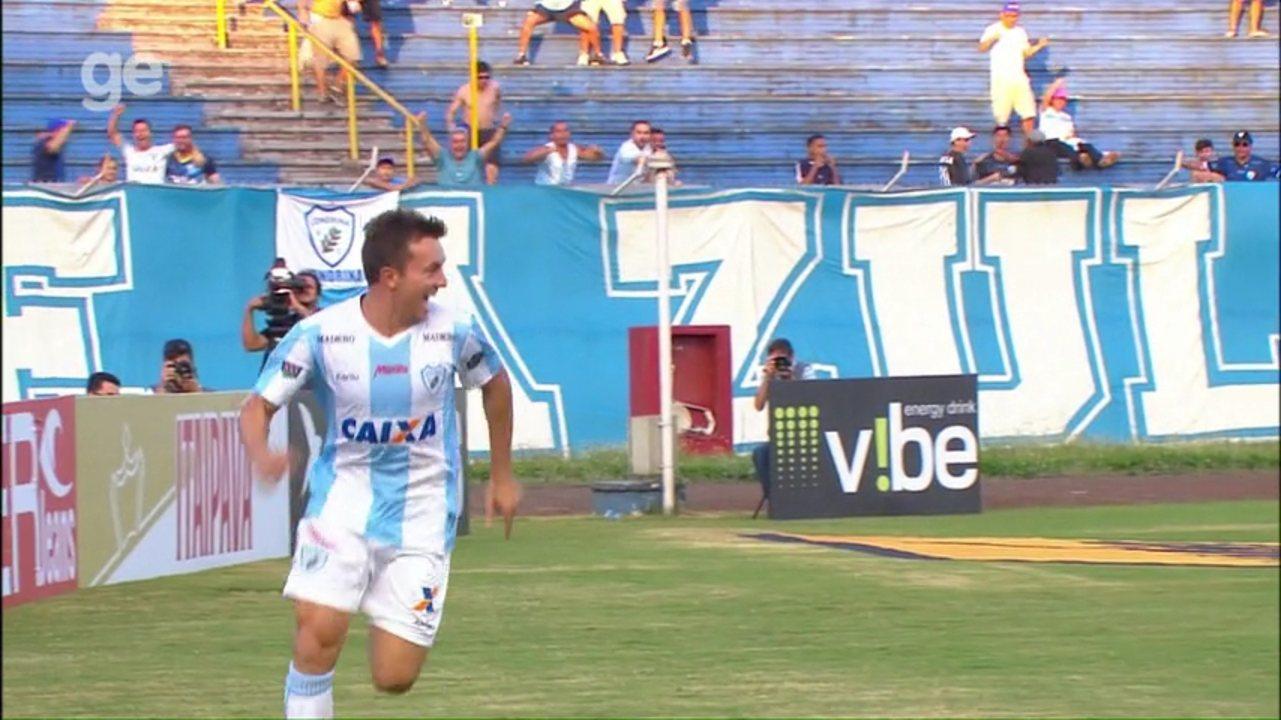 Dagoberto chega a cinco gols em quatro jogos disputados pelo Londrina; confira