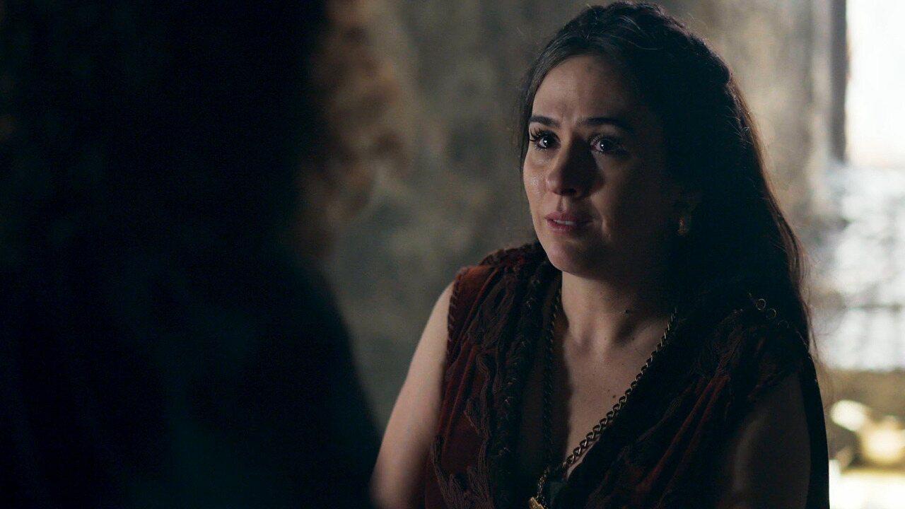 Cena exclusiva: Lucrécia desabafa com Rodolfo as dificuldades da gravidez