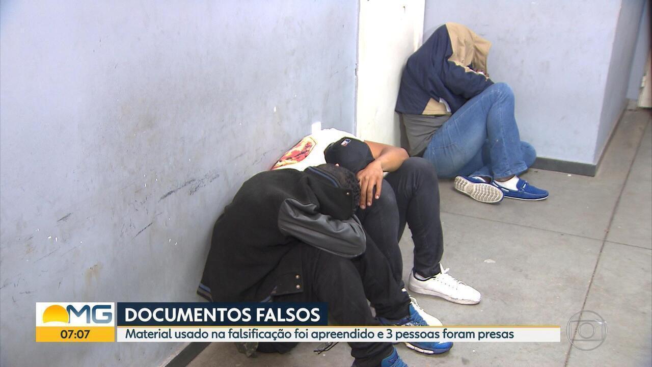 Homens são presos suspeitos de estelionato em Belo Horizonte