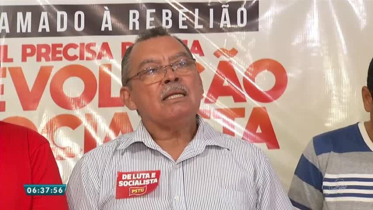 PSTU lança Francisco Gonzaga como candidato ao Governo do Estado