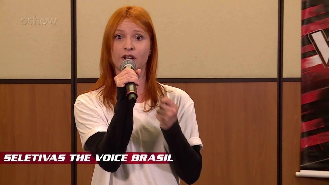 Confira vídeo exclusivo de Tamara Angel na seletiva do The Voice Brasil