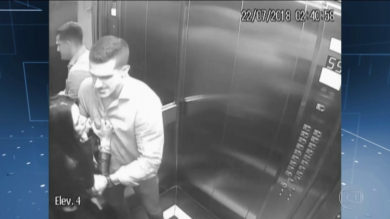 Imagens mostram advogada que caiu de prédio sendo agredida pelo marido