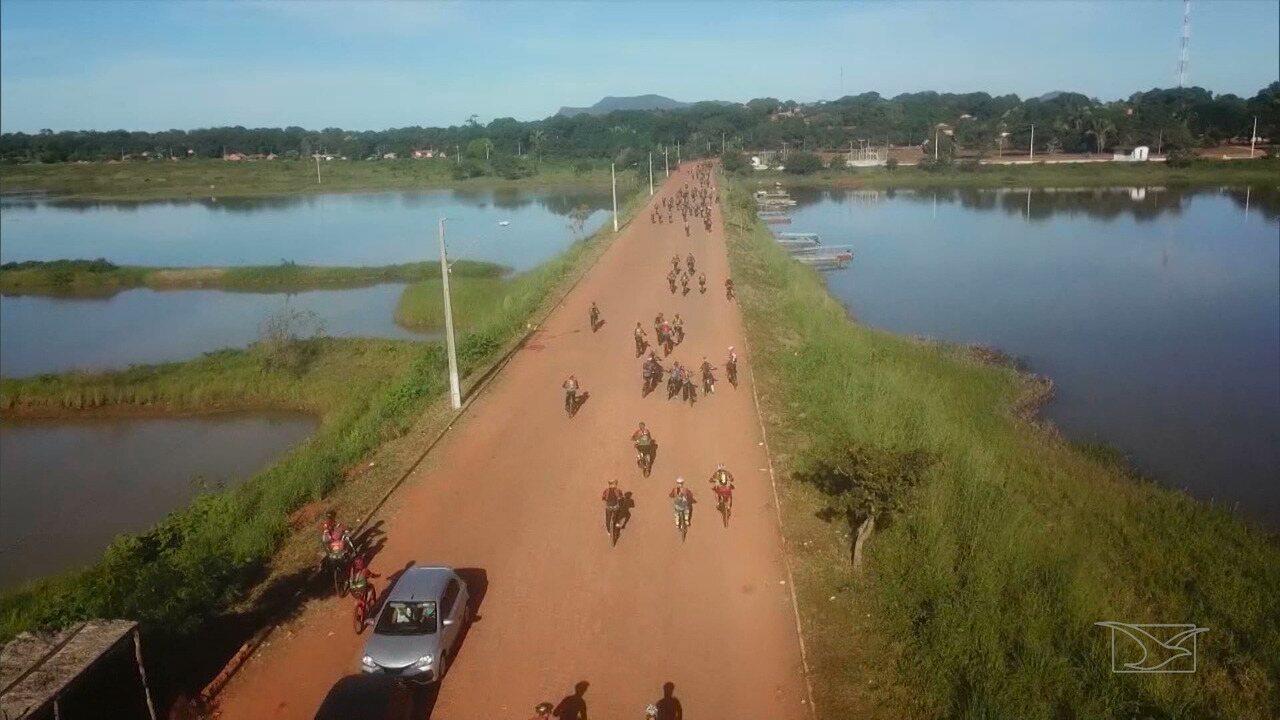 Repórter Mirante mostra a força do ciclismo no cerrado do Maranhão