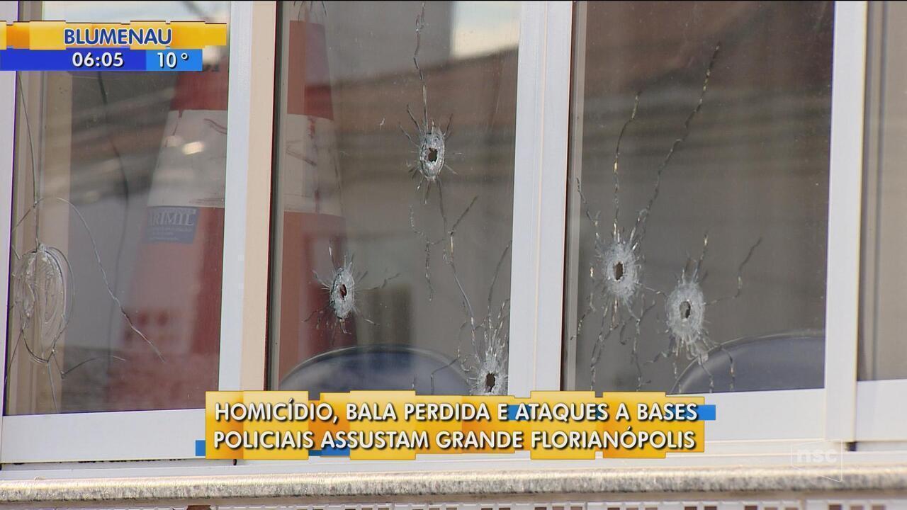 Grande Florianópolis tem registros de homicídios e ataques contra a base policiais