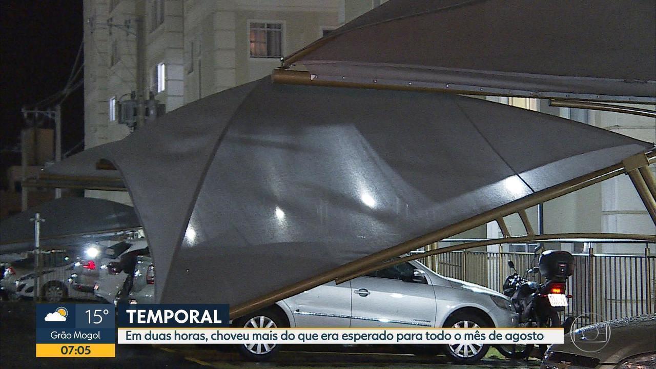 Chuva de granizo atinge vários bairros de Belo Horizonte