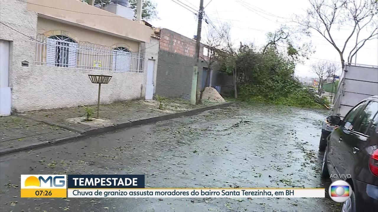 Moradores do bairro Santa Terezinha estão sem energia em Belo Horizonte após temporal