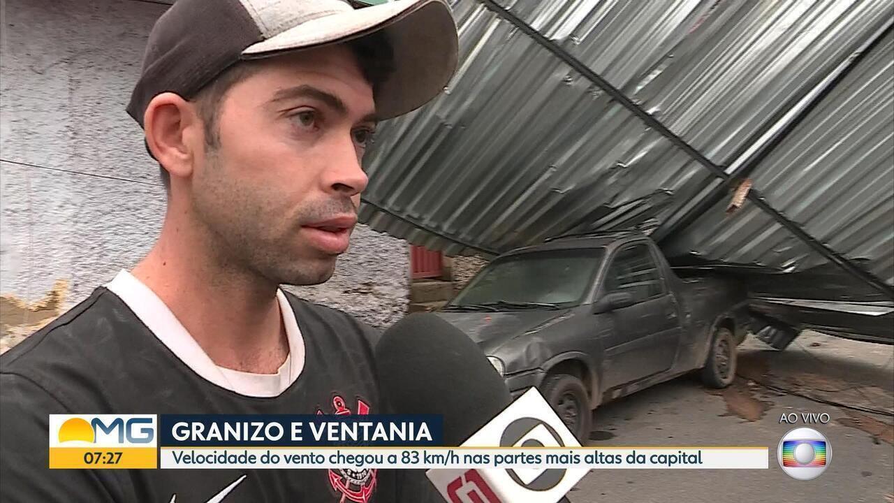 Velocidade do vento chega a mais de 80 km/h nas partes mais altas de Belo Horizonte