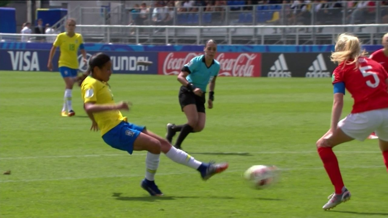 Melhores momentos  Brasil 1 x 1 Inglaterra pela Copa do Mundo de futebol  feminino sub 76164e73b9eb3