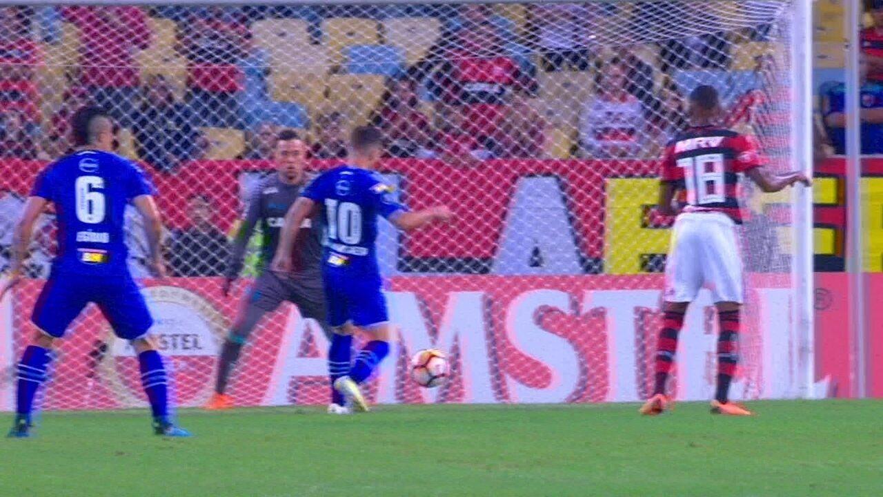 Melhores momentos de Flamengo 0 x 2 Cruzeiro pelas oitavas da Libertadores 2018