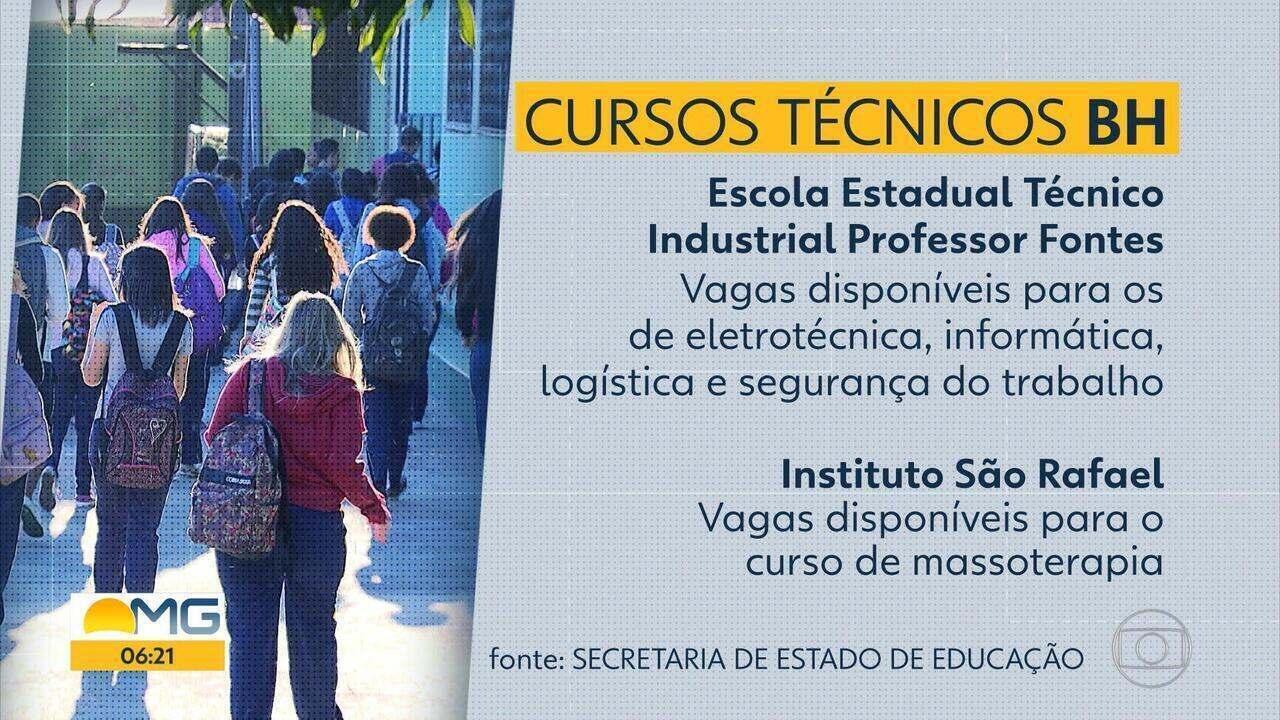 Secretaria de Educação de Minas Gerais oferece mais de 10 mil vagas em cursos técnicos