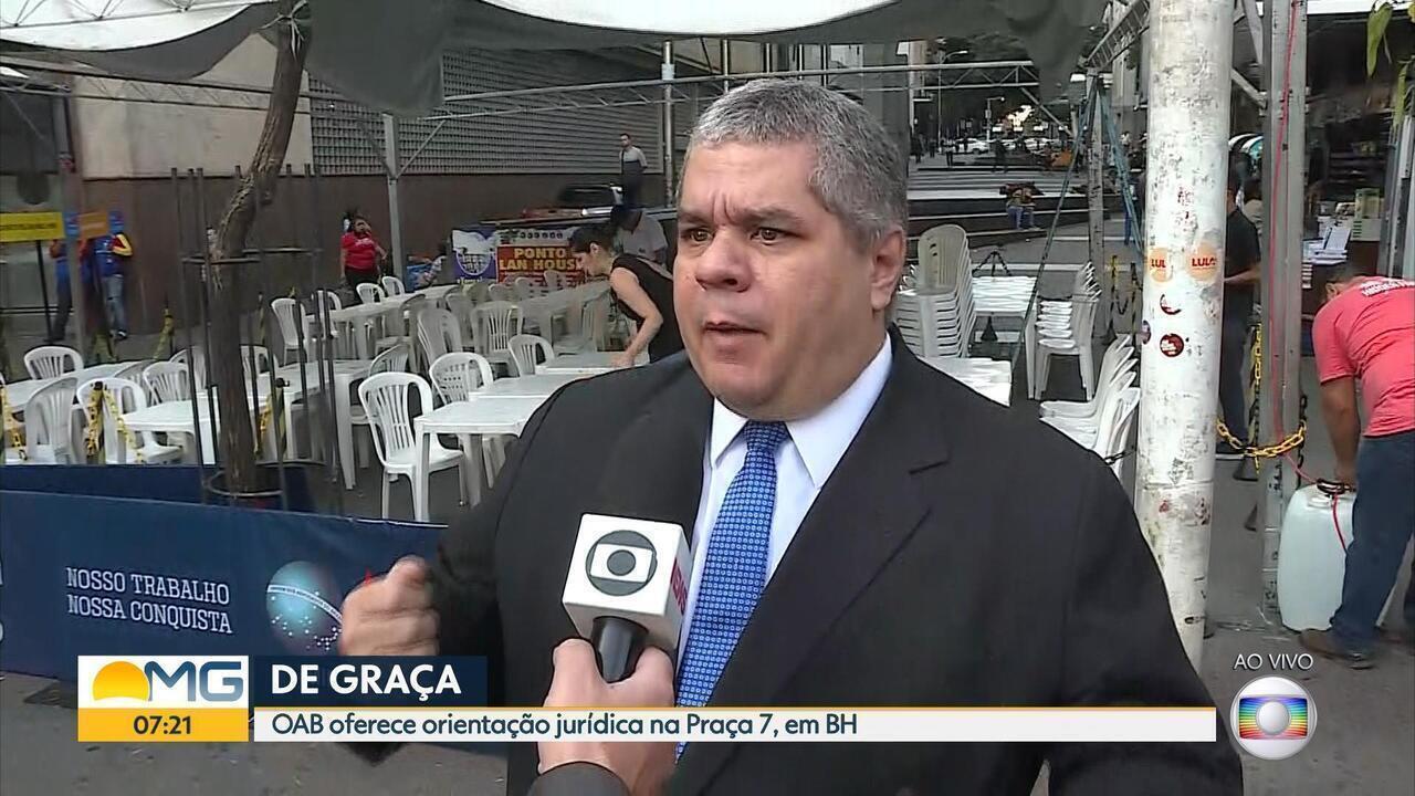 OAB-MG oferece atendimento jurídico gratuito na Praça Sete, em Belo Horizonte