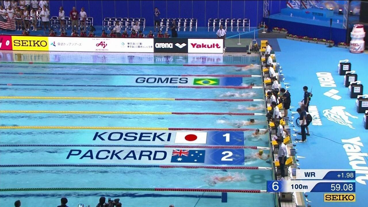 João Gomes Júnior conquista o bronze no 100m peito no Pan-Pacífico