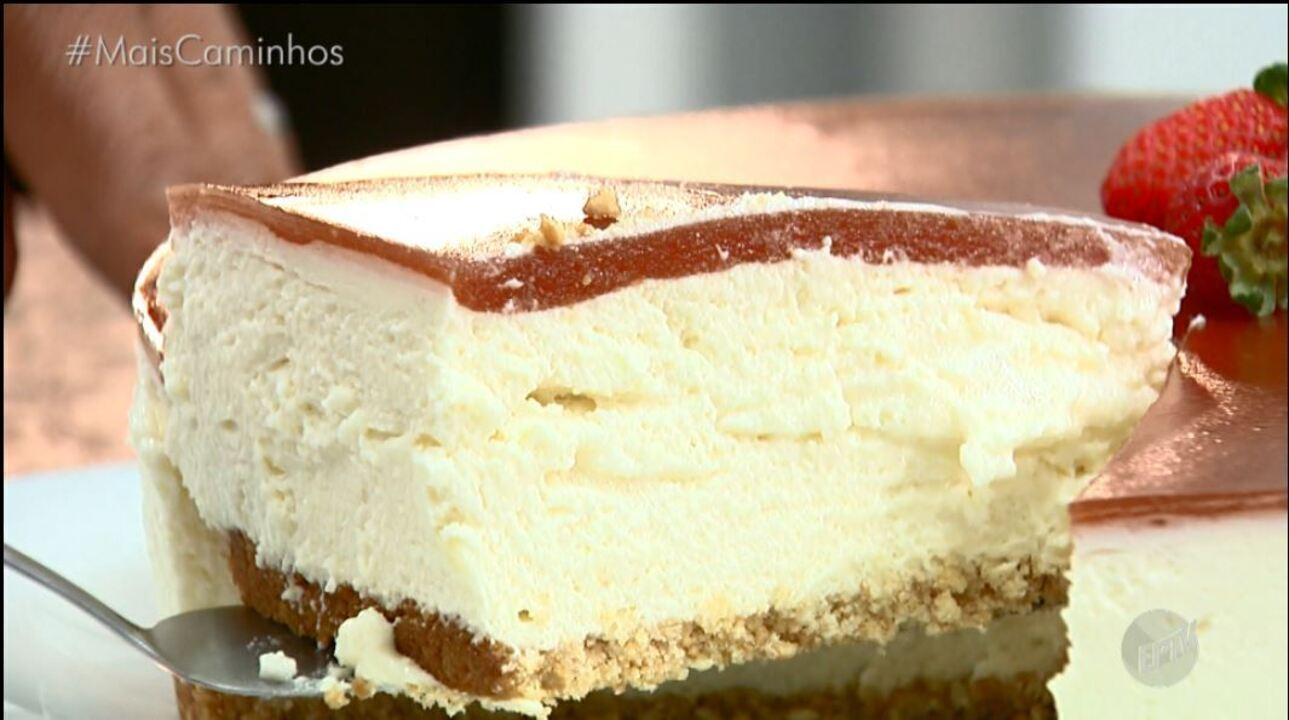 Neste 'Histórias e Sabores' a receita é Cheesecake de Goiabada