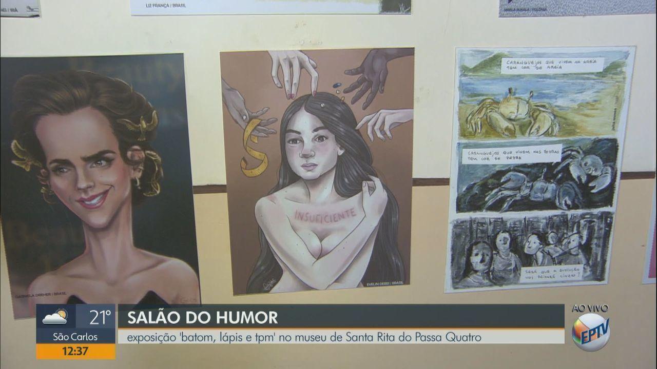 Museu de Santa Rita do Passa Quatro, SP, recebe exposição 'Batom, lápis e TPM'