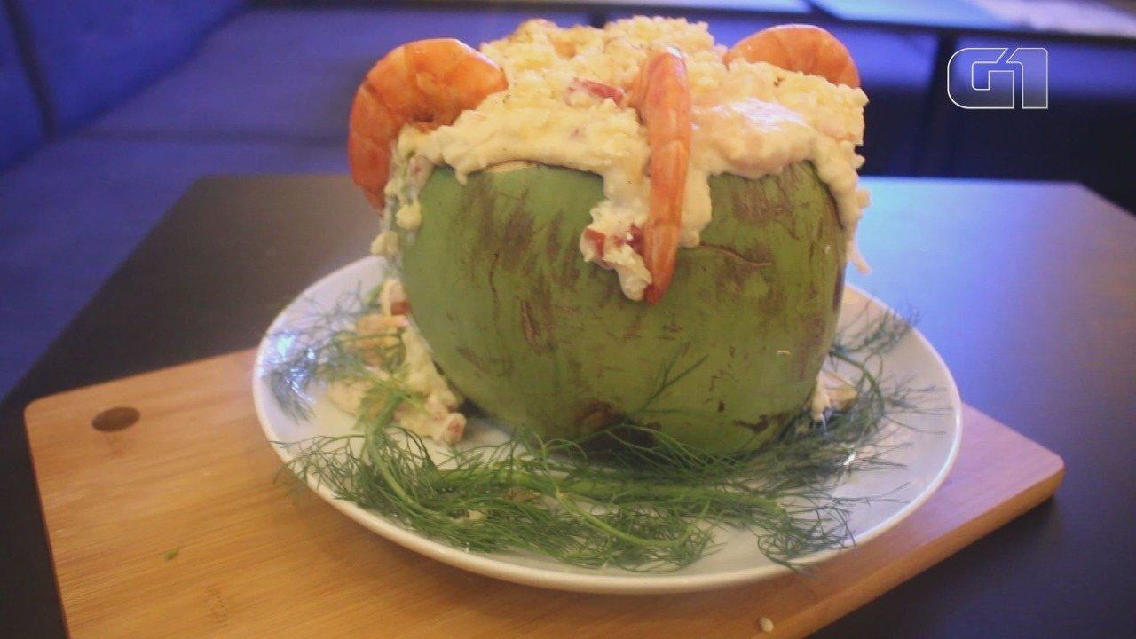 Culinária #013: Aprenda a fazer um camarão no coco
