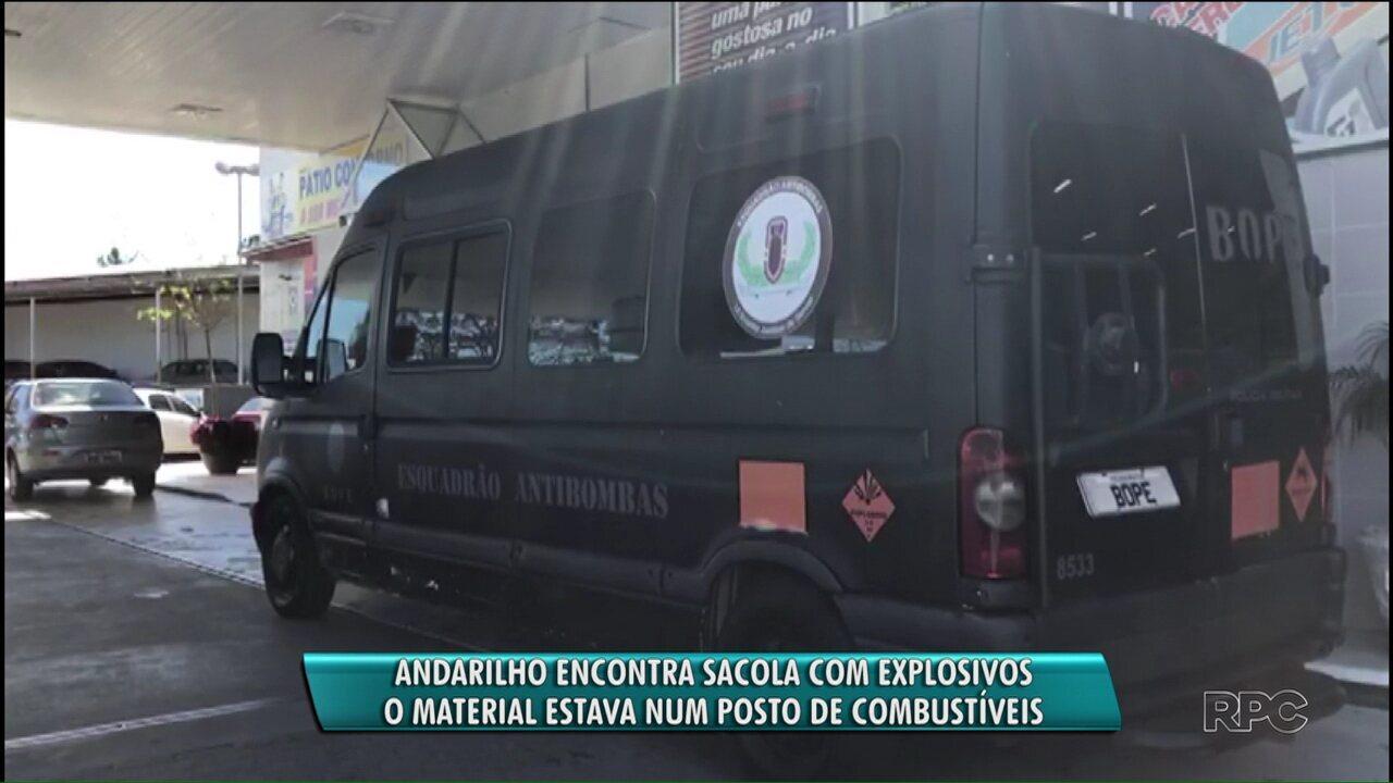 Catador de latinhas encontra sacola com explosivos próximo a posto de combustíveis em Curitiba
