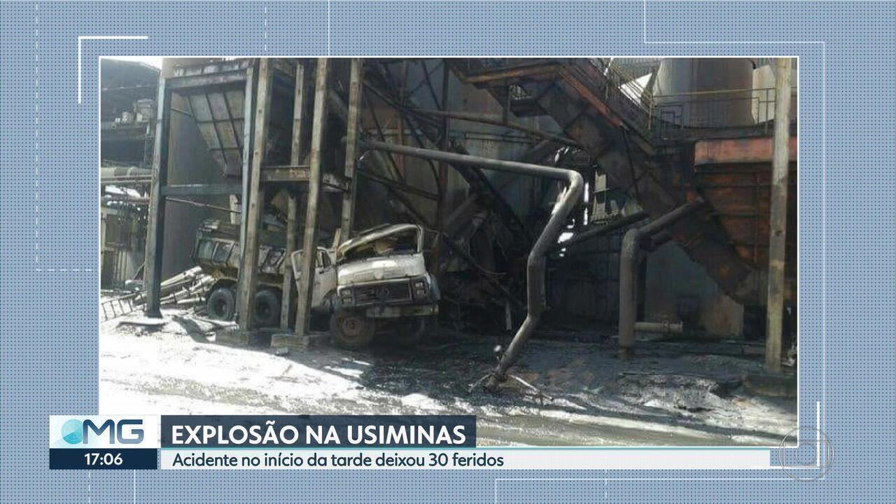 Explosão na Usiminas, em Ipatinga, no Vale do Aço, deixa 30 feridos
