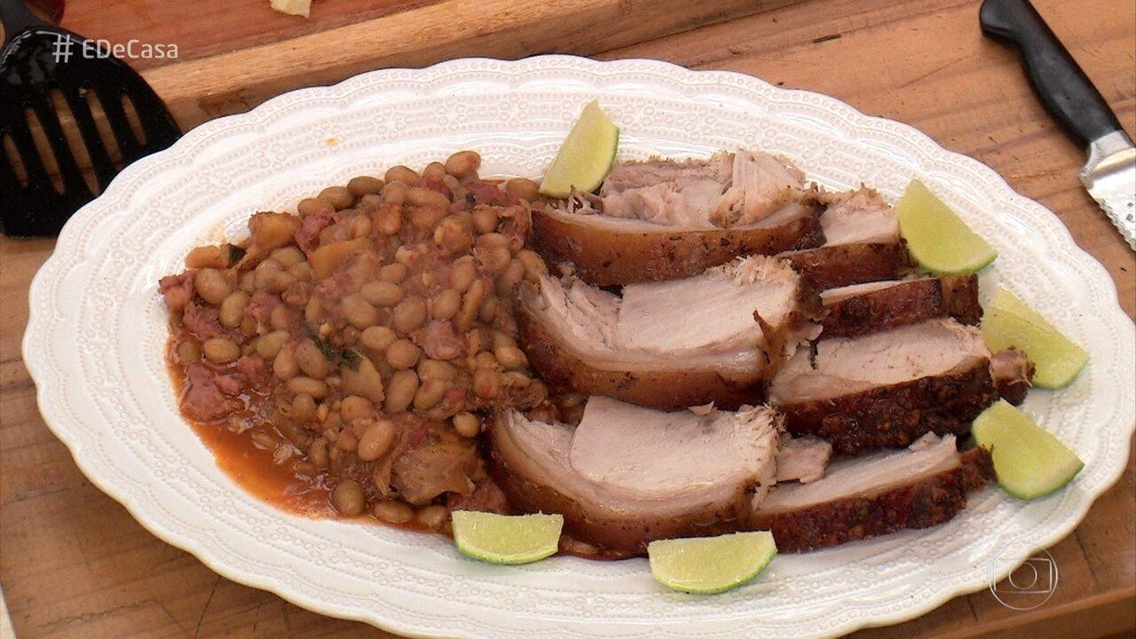 Roberto Ravioli ensina receita de lombo de porco