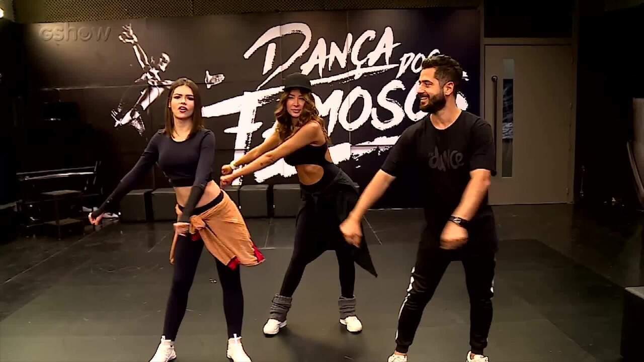 Bailarinas se preparam para o 'Dança dos Famosos' em aula de Fit Dance