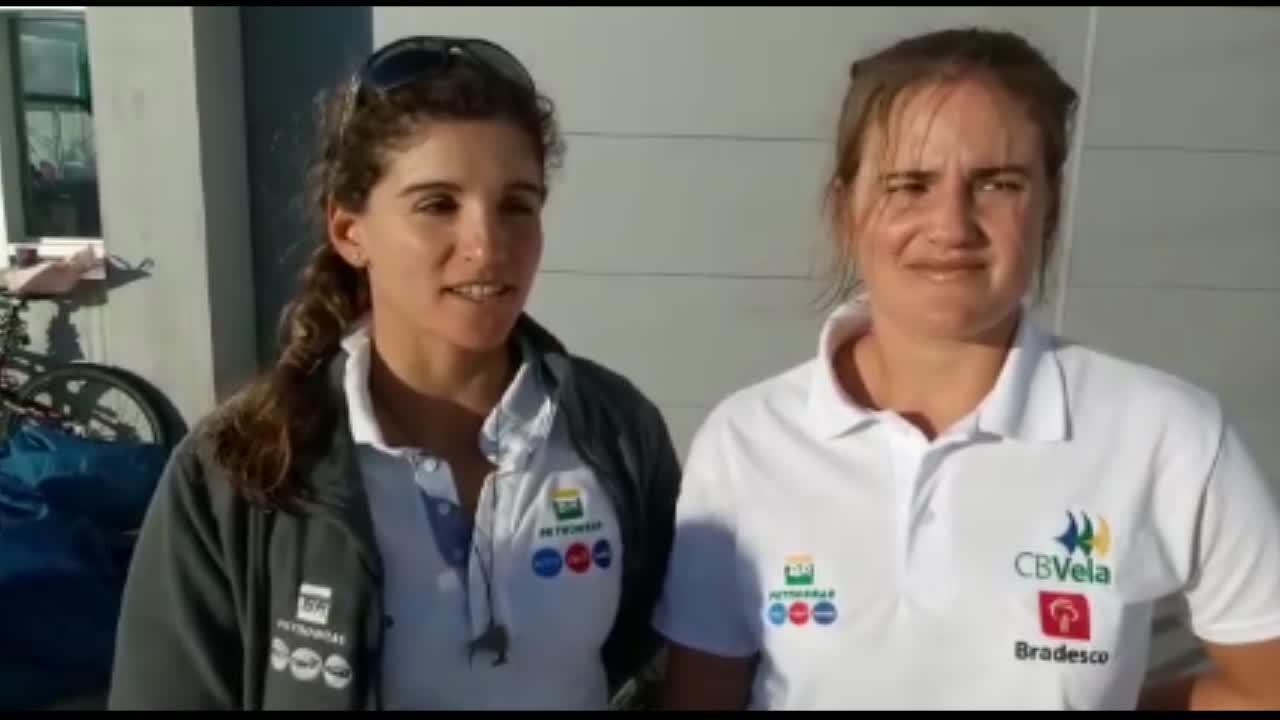 Martine Grael e Kahena Kunze comentam quarta colocação no Mundial de vela