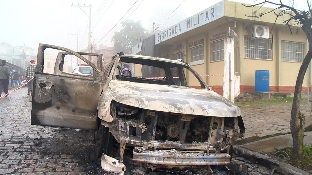 Bandidos assaltam agência bancária, atacam quartel e trocam tiros com a polícia em Canguçu