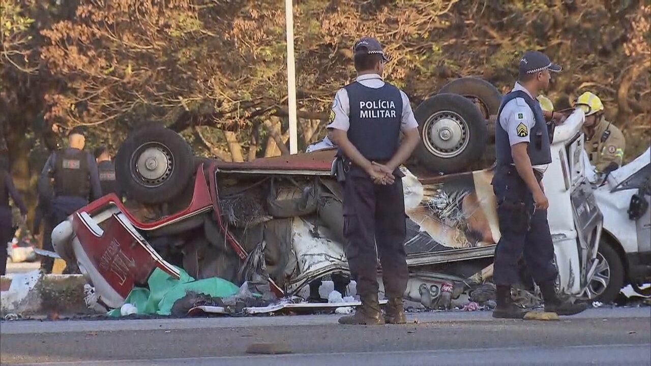 Homem rouba carro, faz reféns e provoca grave acidente na Asa Sul