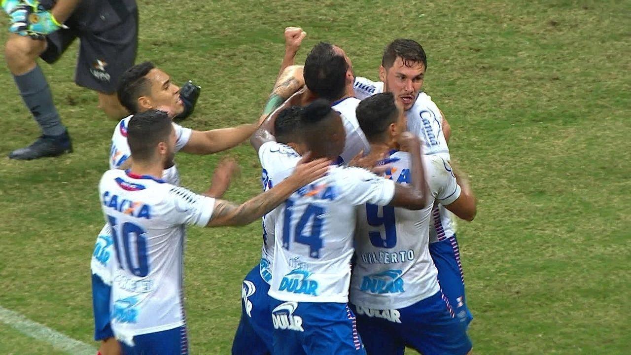 O gol de Bahia 1 x 0 América-MG pela 18ª rodada do Campeonato Brasileiro