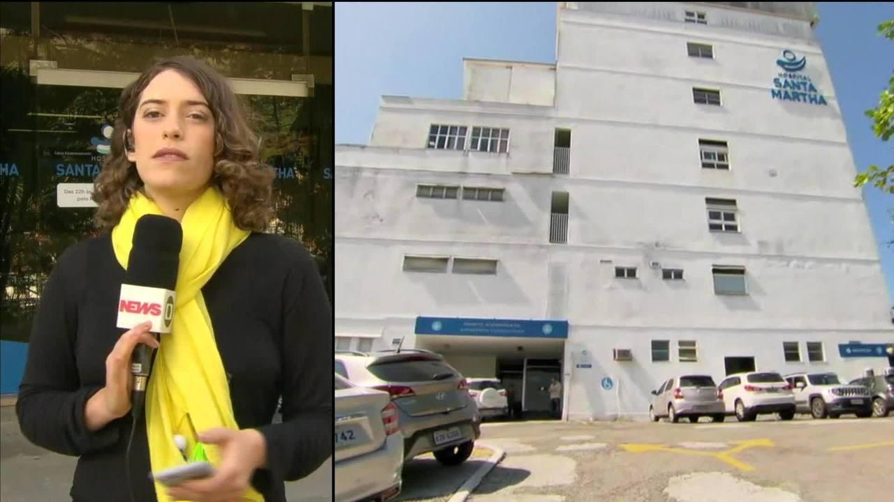 Mulher baleada em hospital de Niterói continua com projétil alojado na cabeça