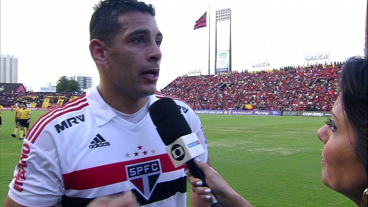 Diego Souza, do São Paulo, fala após gol sobre o Sport: