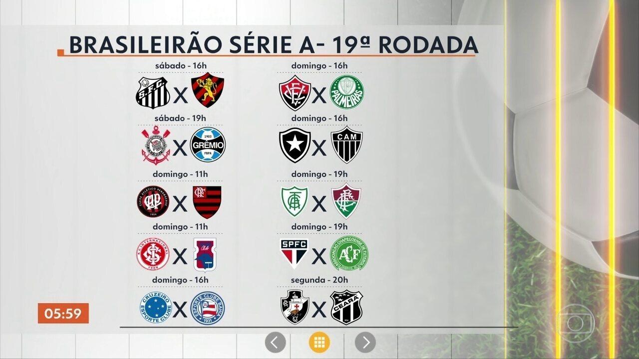 Hora 1 Veja A Tabela Dos Jogos Do Final De Semana Pelo Campeonato Brasileiro Globoplay