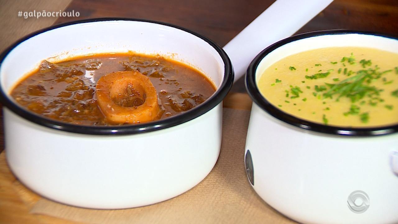Ossobuco com Polenta Mole é receita do Cozinha de Galpão