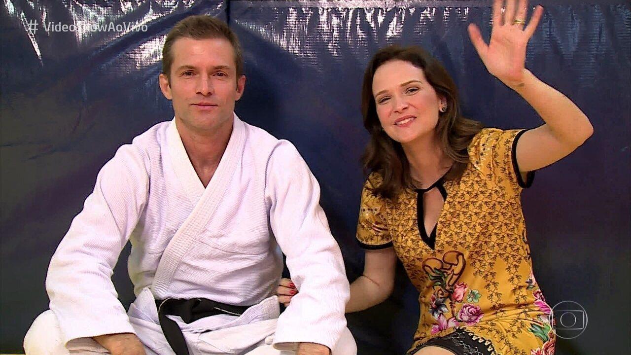Fernanda Rodrigues e Cláudio Heinrich se reencontram após 23 anos de 'Malhação'