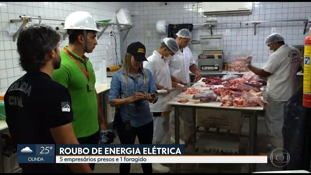 Cinco empresários são detidos suspeitos de roubo de energia