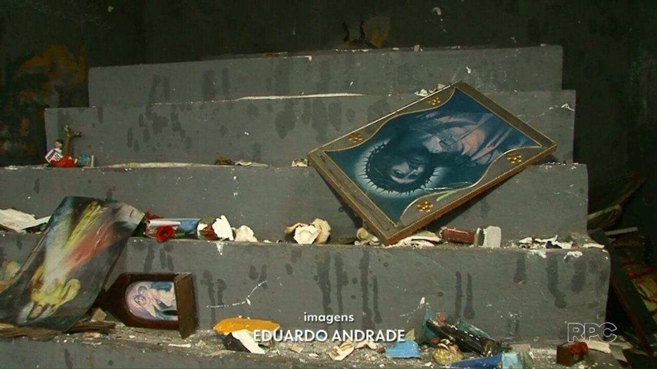 Capela de Guarapuava é destruída por vândalo