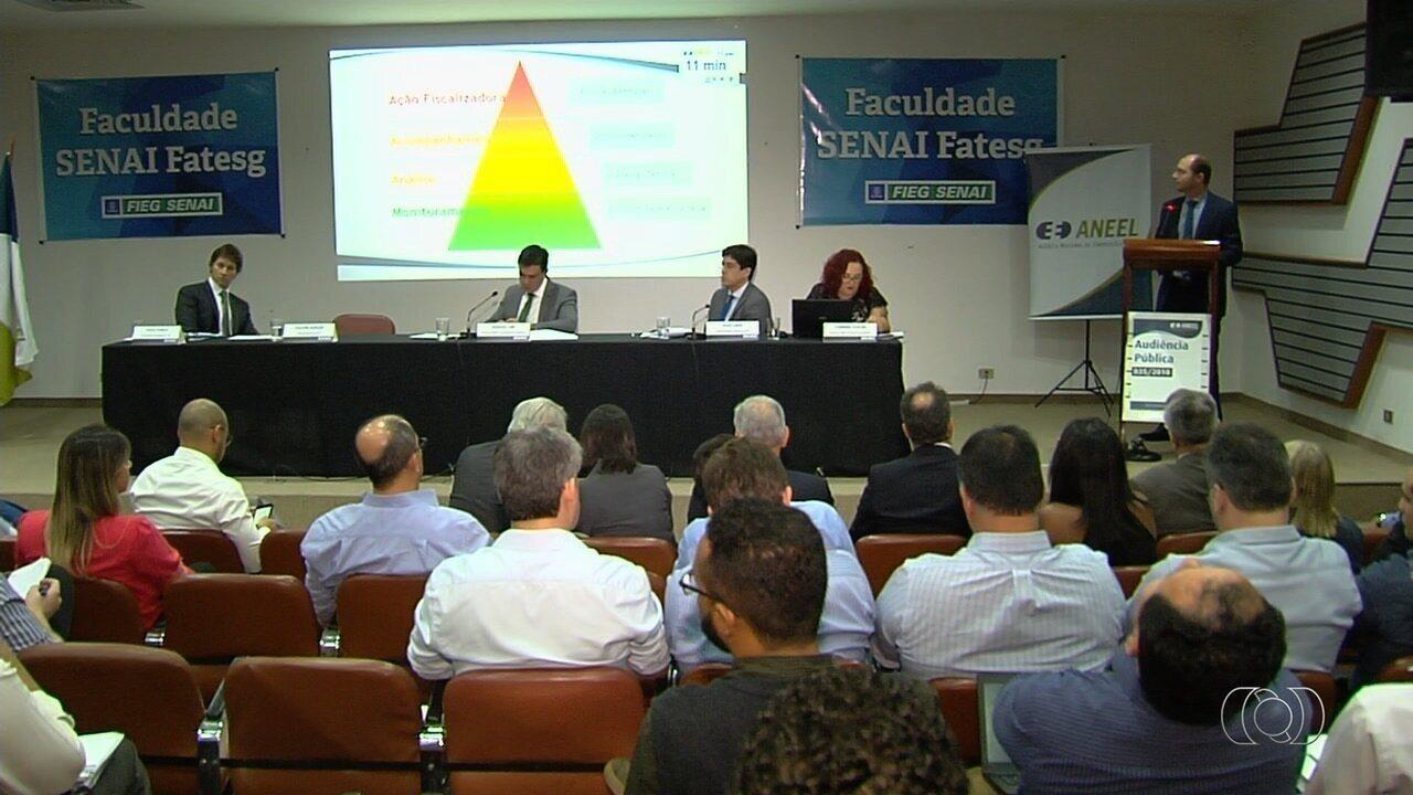 Audiência debate possível aumento na conta de energia em Goiás