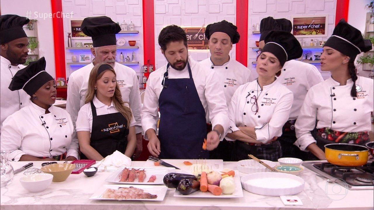 Chef Kazuo Harada faz workshop no 'Super Chef Celebridades' e ensina duas receitas