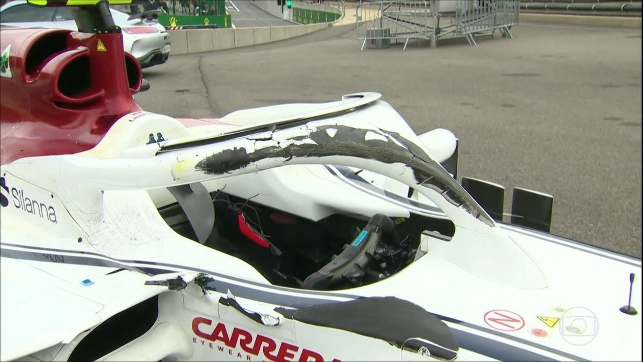 Halo evita ferimentos graves em acidente no GP da Bélgica de Fórmula 1