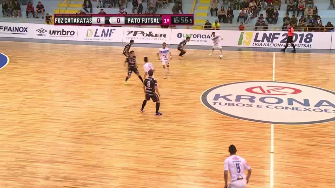 Os gols de Foz Cataratas 3 x 3 Pato Futsal pela Liga Nacional de futsal ad6a432e3e19a