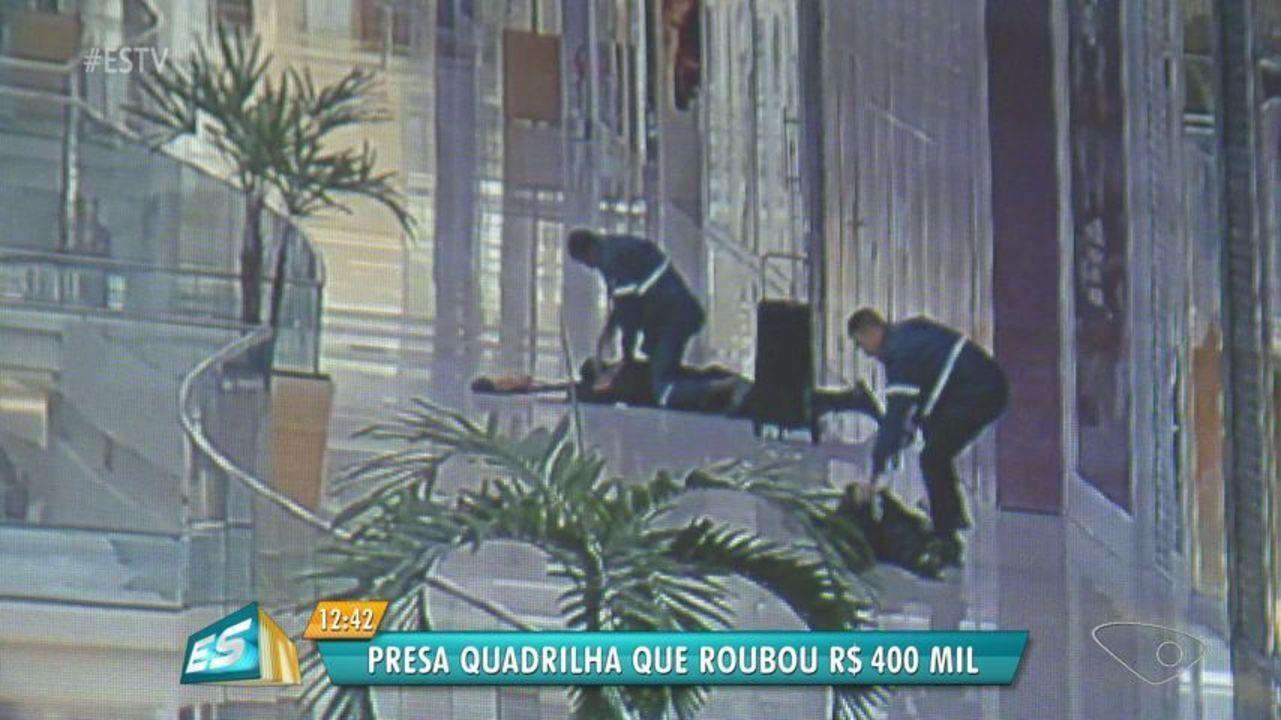 Imagens mostram ação antes de arrombamento a carro-forte em Vila Velha, ES