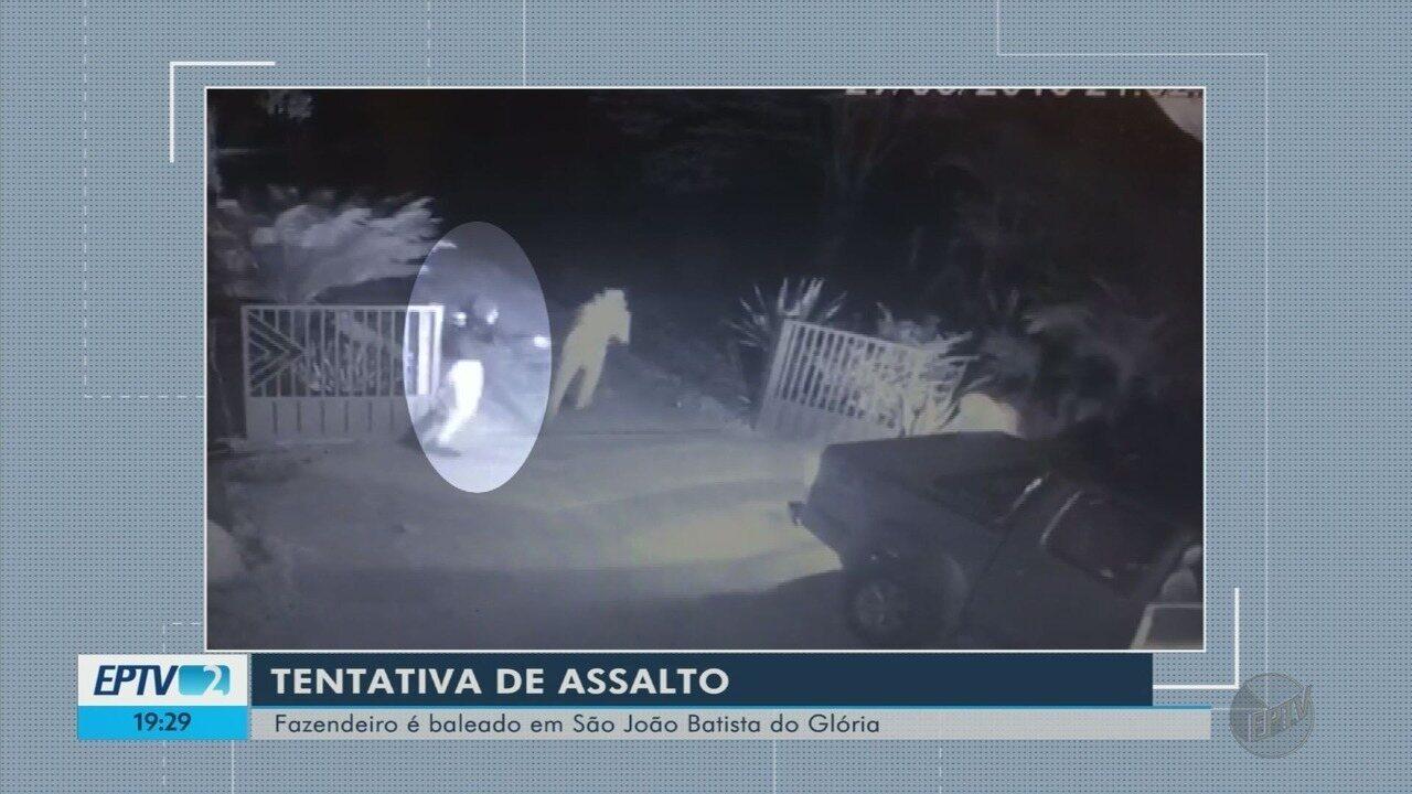 Polícia procura por suspeitos de balear fazendeiro em São João Batista do Glória (MG)