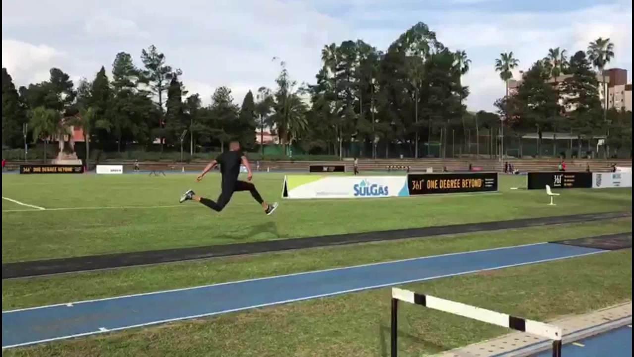 Almir Júnior se recupera de lesões e volta a treinar salto triplo na Sogipa