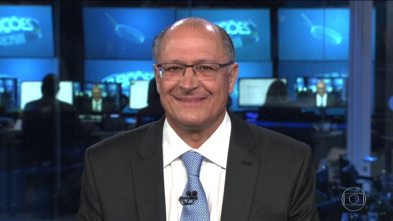 Geraldo Alckmin (PSDB) é entrevistado no Jornal Nacional