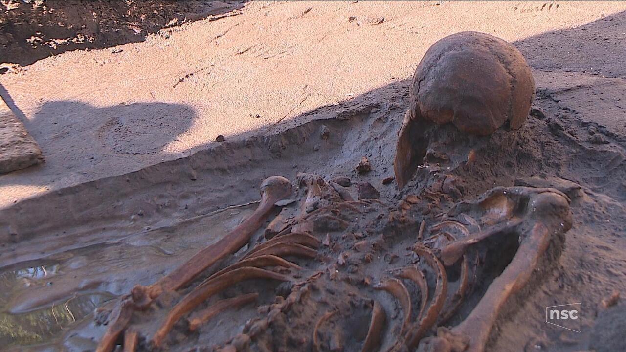 Arqueólogos encontram esqueleto pré-histórico em terreno de obras de Florianópolis
