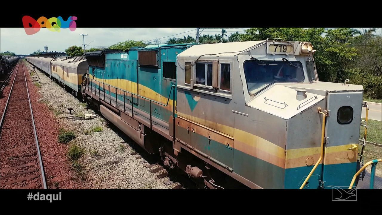 Daqui conhece o trem de passageiros da Estação de Ferro Carajás