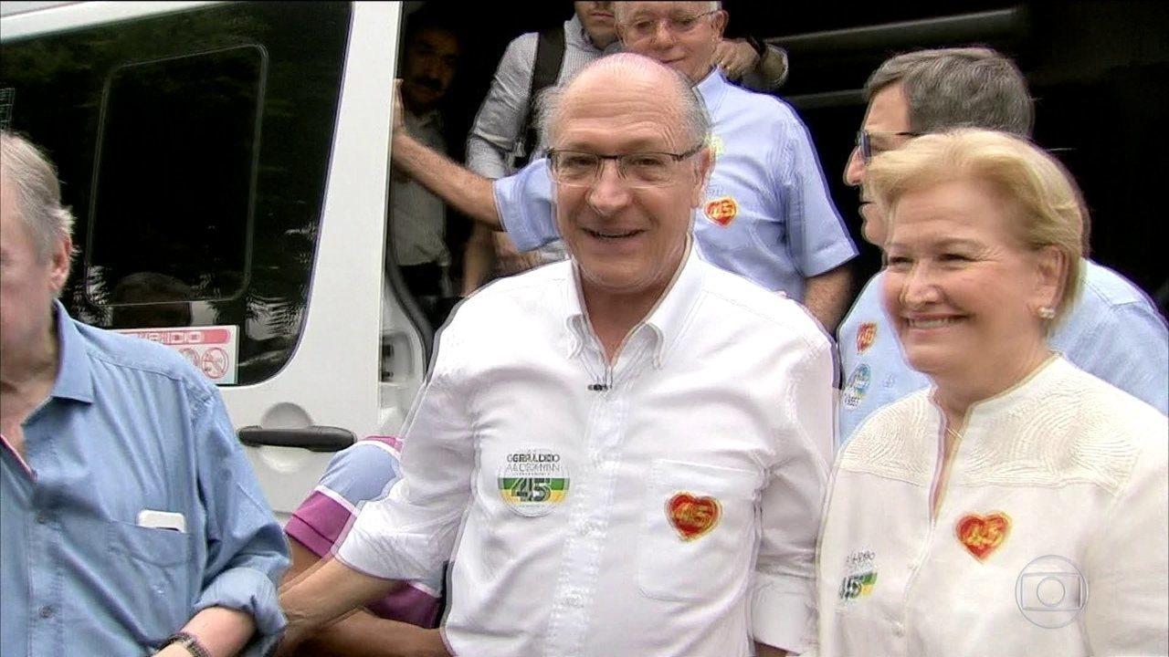 Candidato do PSDB, Geraldo Alckmin, faz campanha no Ceará