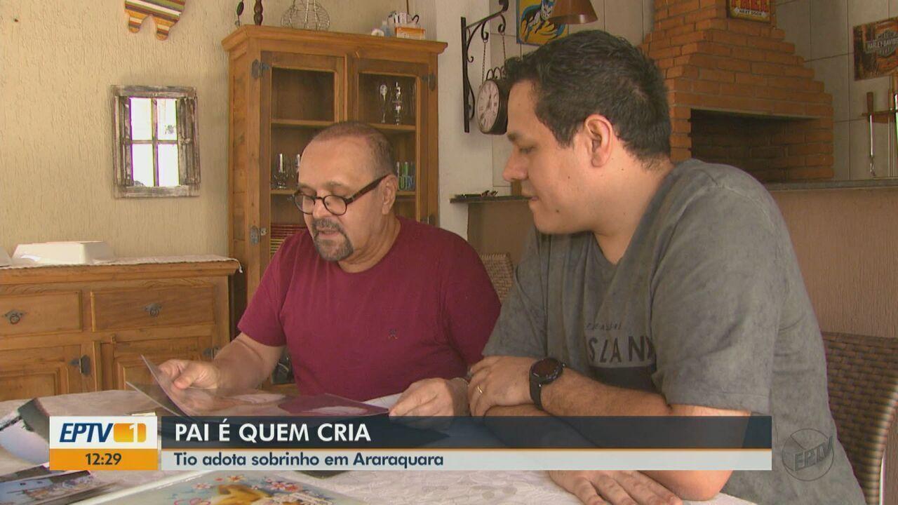 Tio adota sobrinho como filho em Araraquara