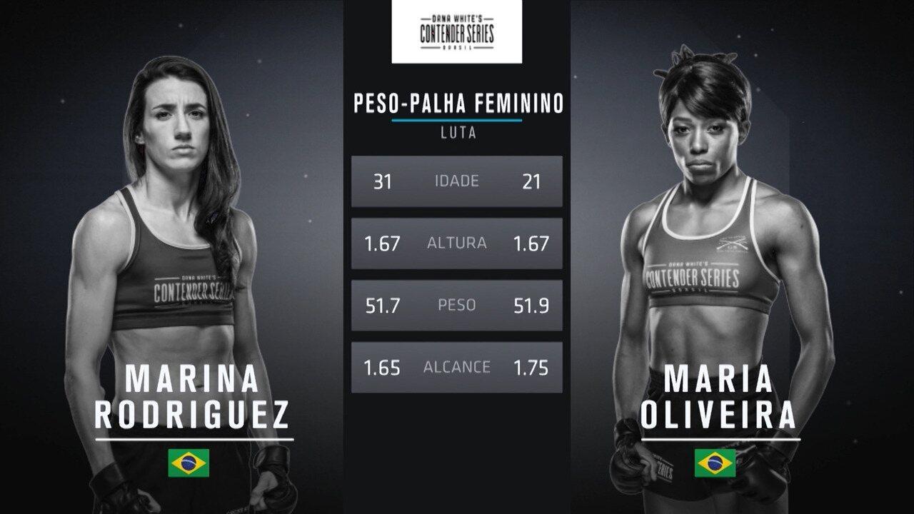 The Contender Series Brasil 1 - Marina Rodriguez x Maria Oliveira
