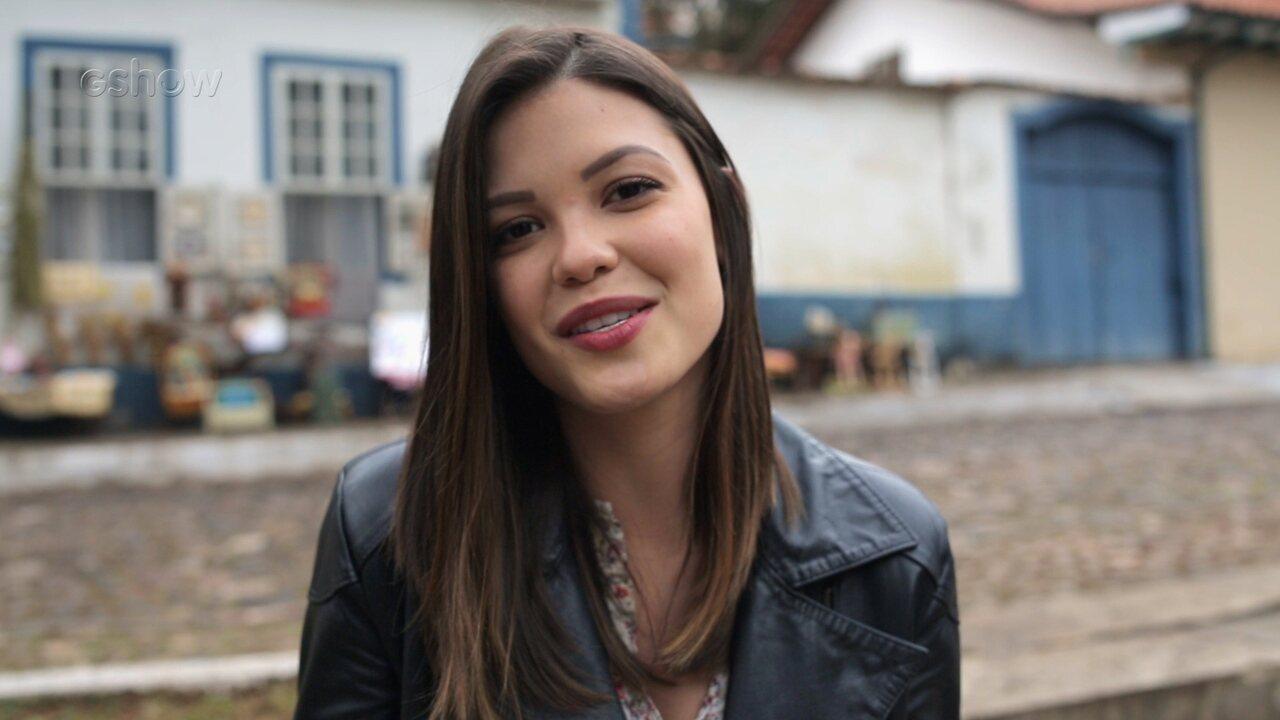 Vitória Strada fala sobre carreira e sua personagem em 'Espelho da Vida'