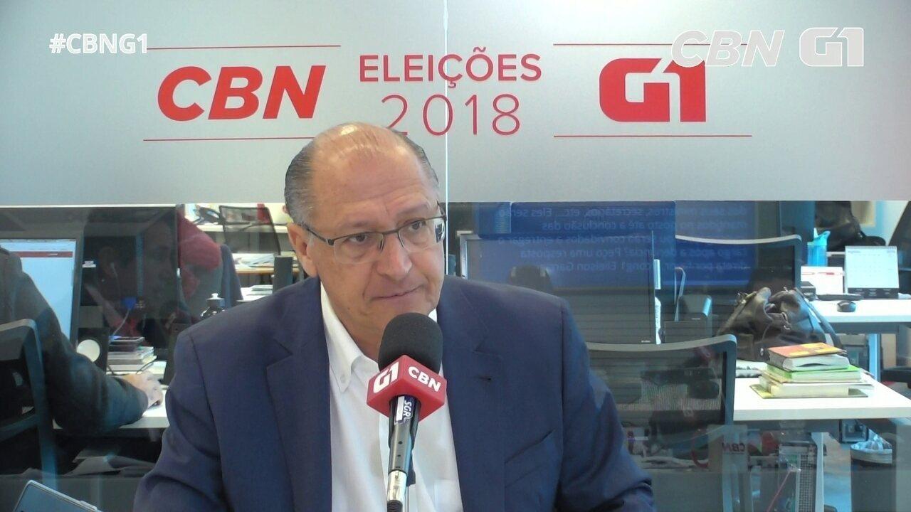 Alckmin fala sobre Aécio Neves